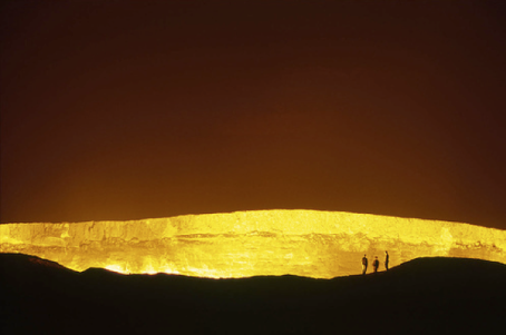A Darvasa Gas Crater in the Karakum desert